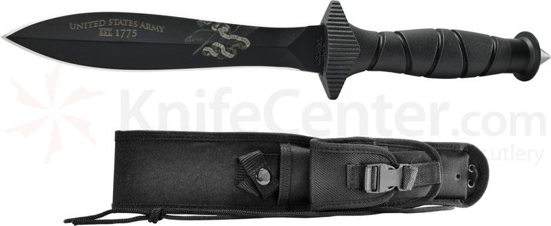 U.S. Army Combat Knife Fixed 5.7 inch Carbon Steel Double-Edge Blade, Kraton Handle