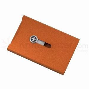 Wagner Swiss Wallet Anodized Aluminum, Money Clip, Orange