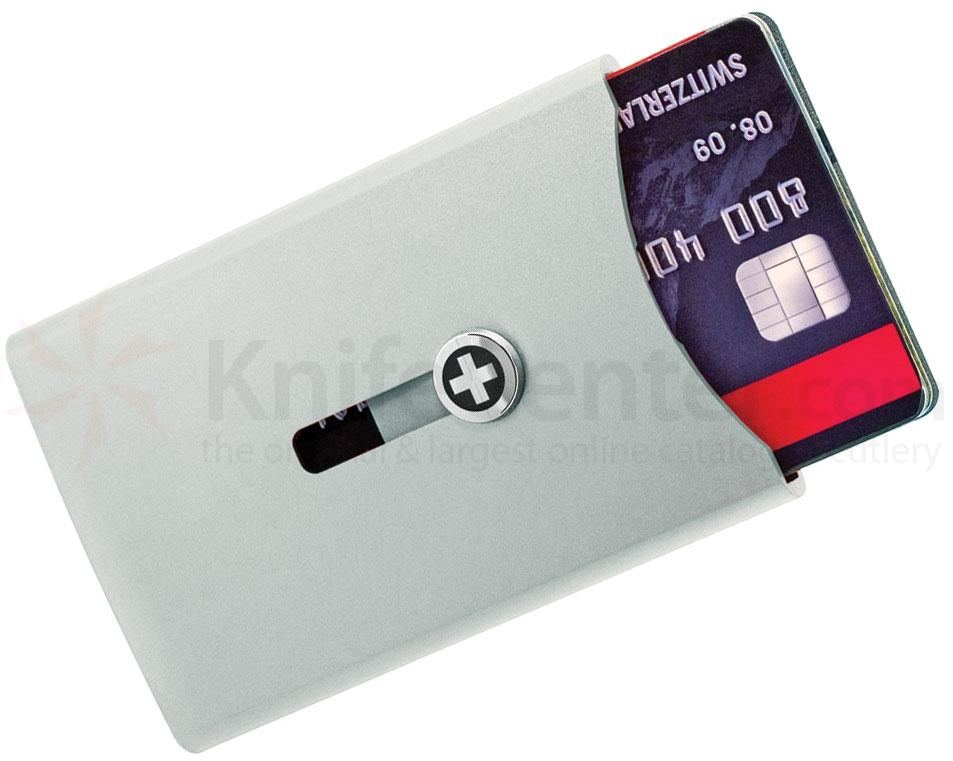 Wagner Super Slim Swiss Wallet with Money Clip, Silver Anodized Aluminum