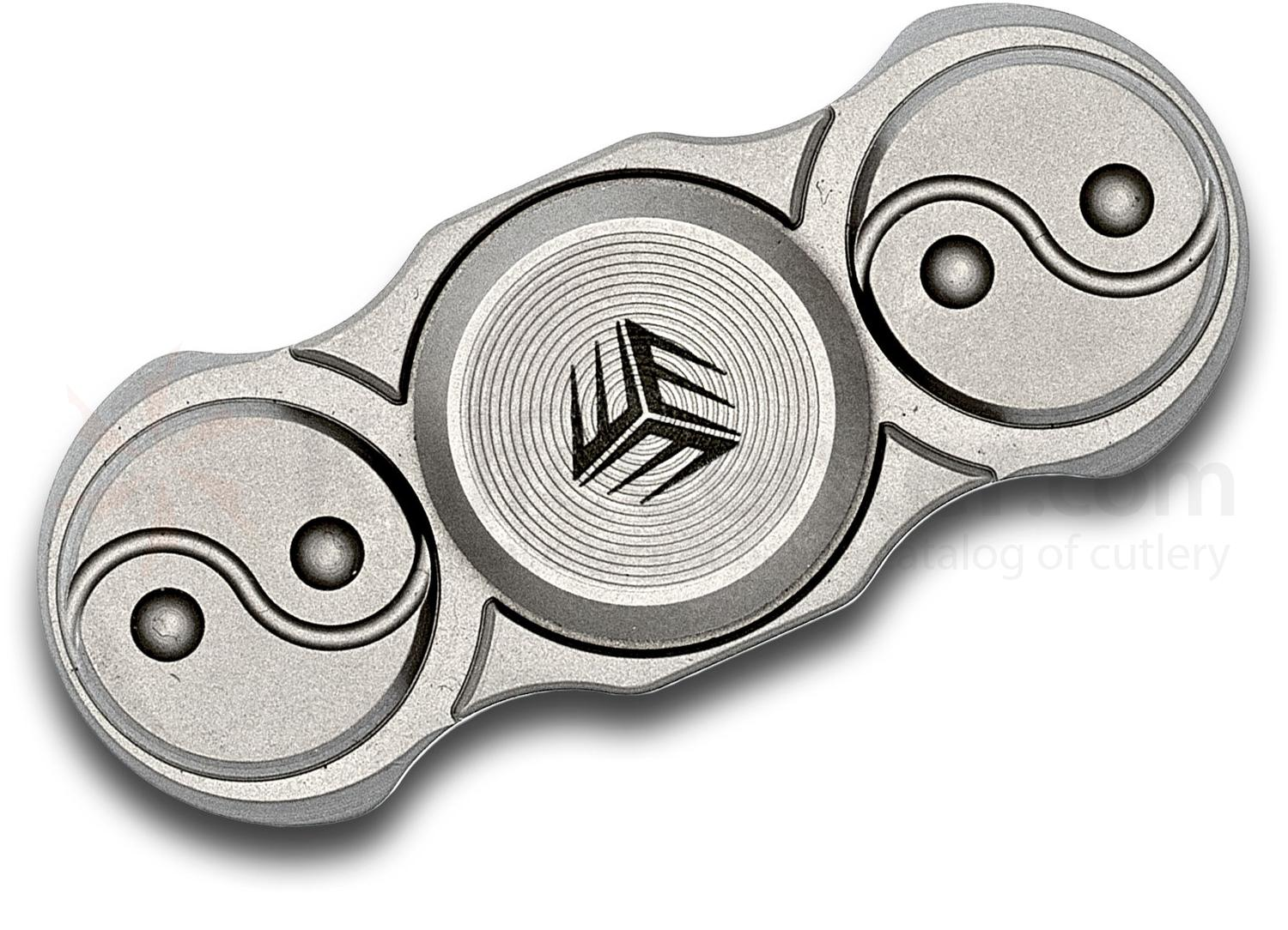 We Knife Company S01C Bead Blasted Fidge Titanium Hand Spinner