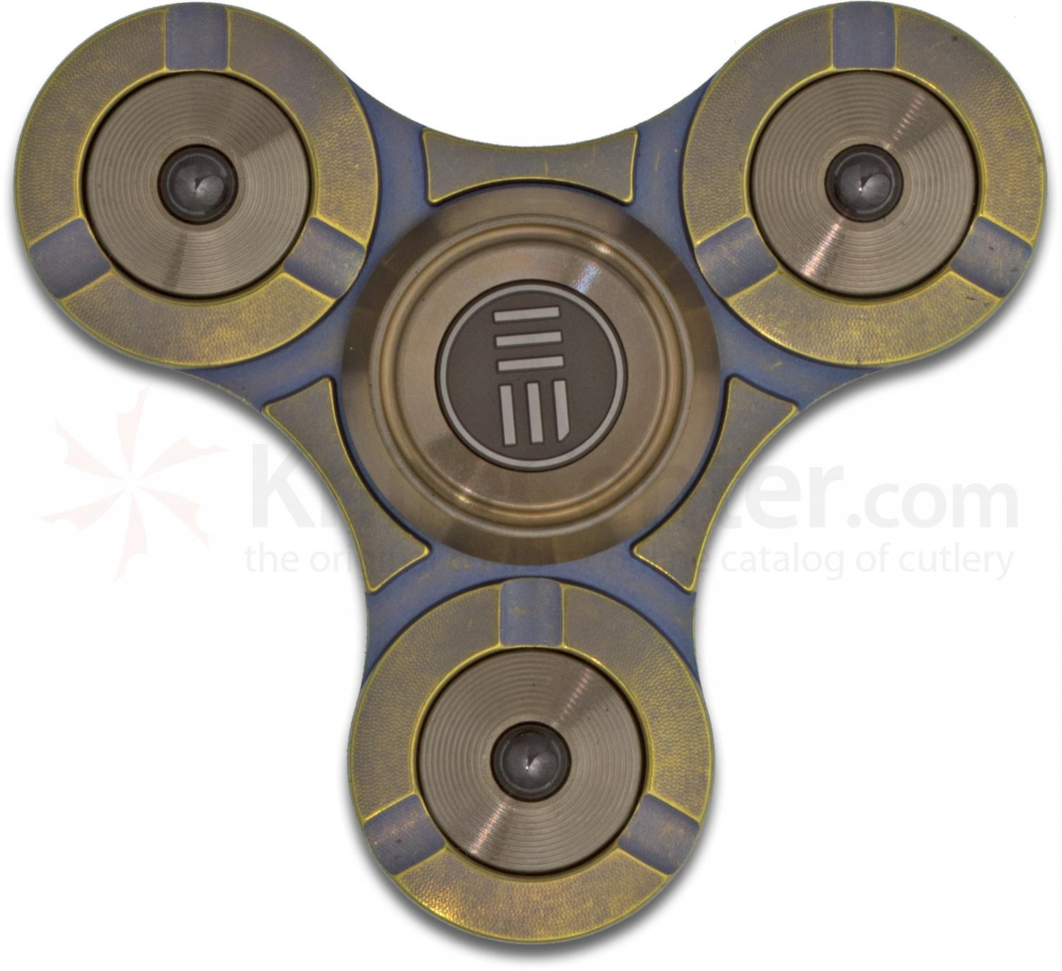 We Knife Company S02B Bronze Fidge Titanium Hand Spinner