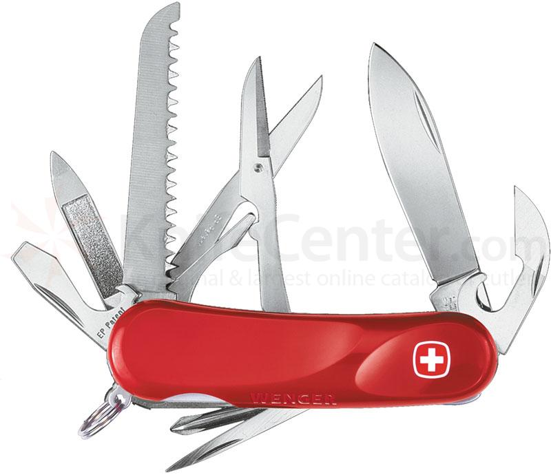 Wenger Swiss Army Evolution 18 Multi-Tool, 3.25 inch Red Handles