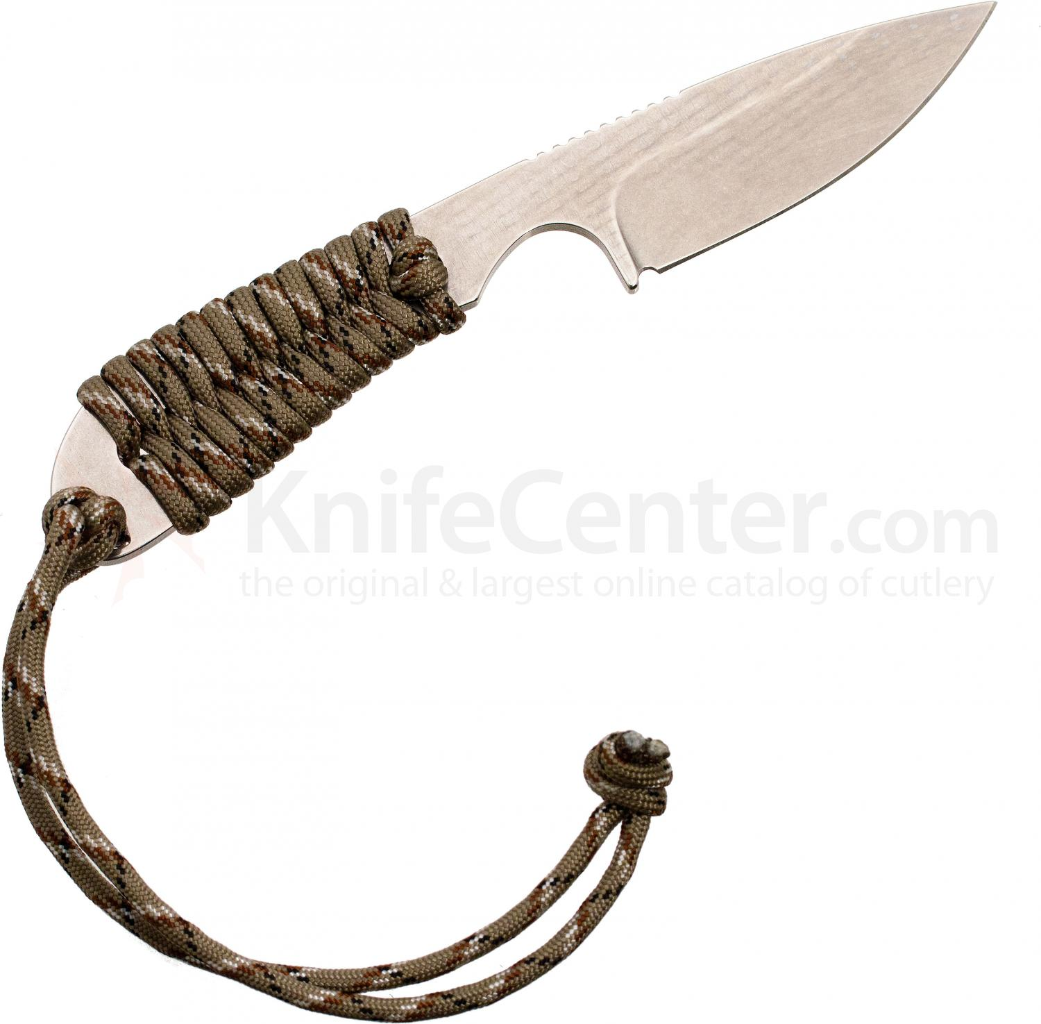 White River Knives Backpacker Fixed 3.25 inch S30V Blade, Desert Camo Paracord Handle, Kydex Sheath