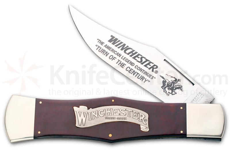 Winchester Display 11 inch  inchTurn Of The Century inch Folder Burgundy Micarta