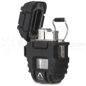 Windmill Delta (Black) Shockproof / Stormproof Butane Lighter