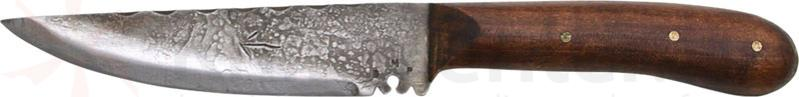 Wrangler Small Indian 6-3/4 inch Fixed Blade Knife, Leather Sheath with Decorative Beads