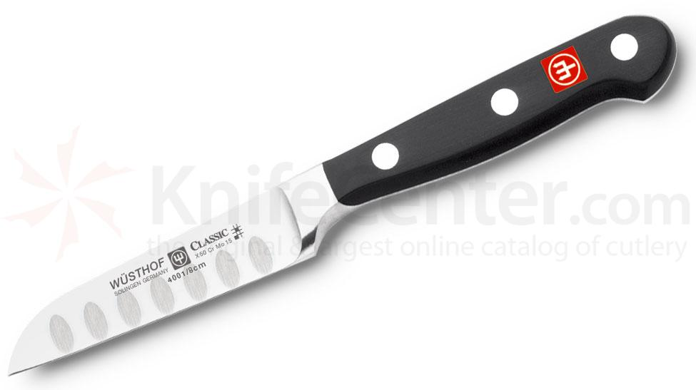 Wusthof Classic 3 inch Straight Paring Knife, Hollow Edge