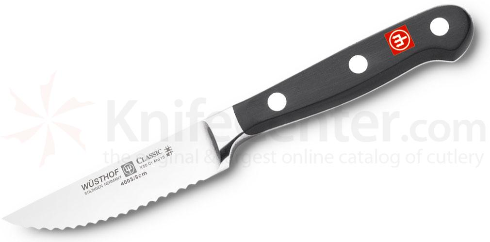 Wusthof Classic 3 inch Serrated Paring Knife