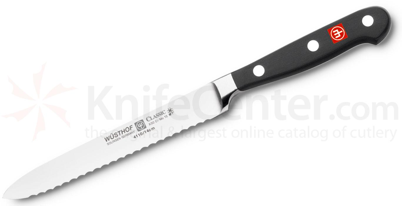 Wusthof Classic 5 inch Serrated Sausage Knife