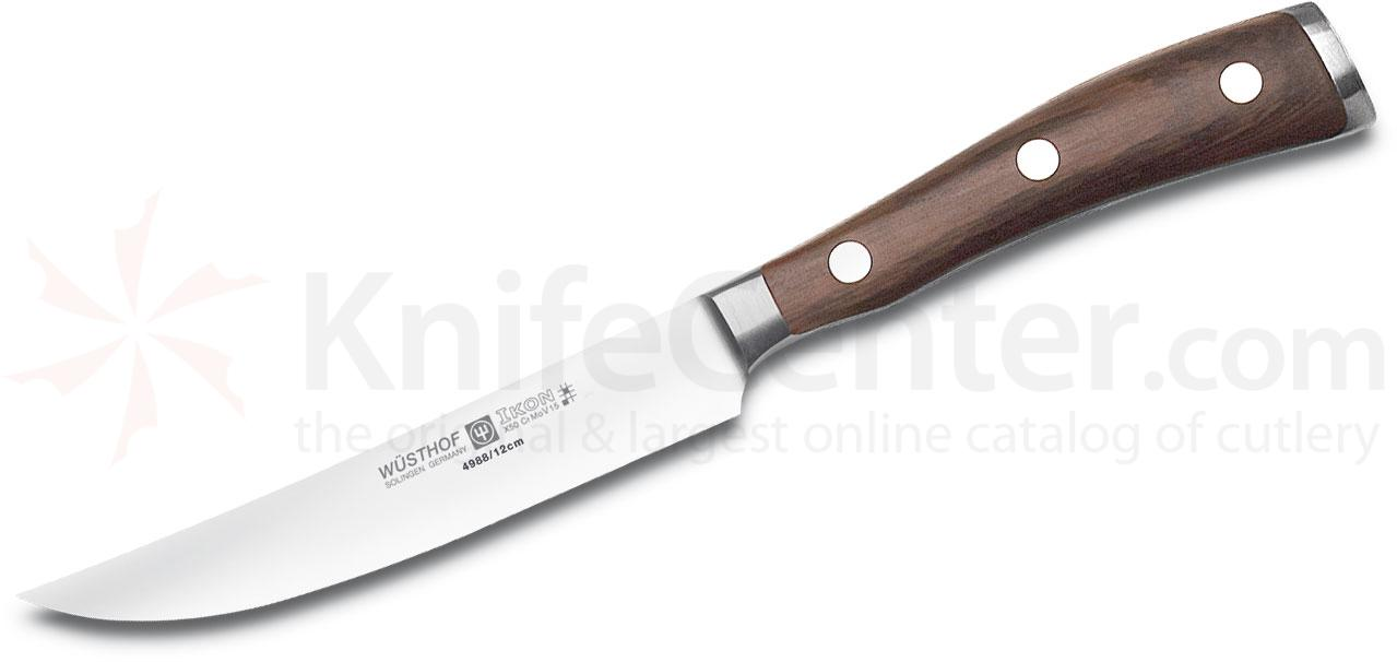 Wusthof Ikon 4.5 inch Steak Knife, Blackwood Handles