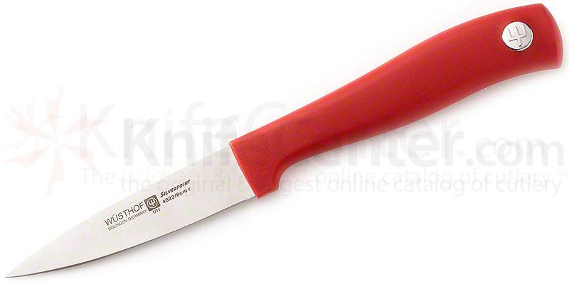 Wusthof Silverpoint II 3 inch Paring Knife, Red Handle