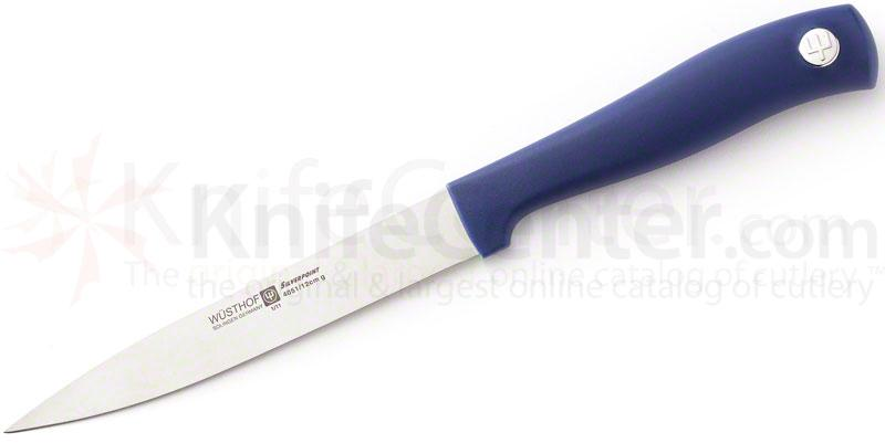 Wusthof Silverpoint II 4-1/2 inch Utility Knife, Blue Handle