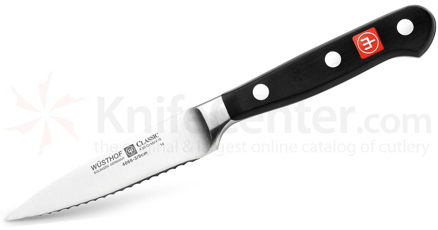 Wusthof Classic 3.5 inch Full Serrated Paring Knife