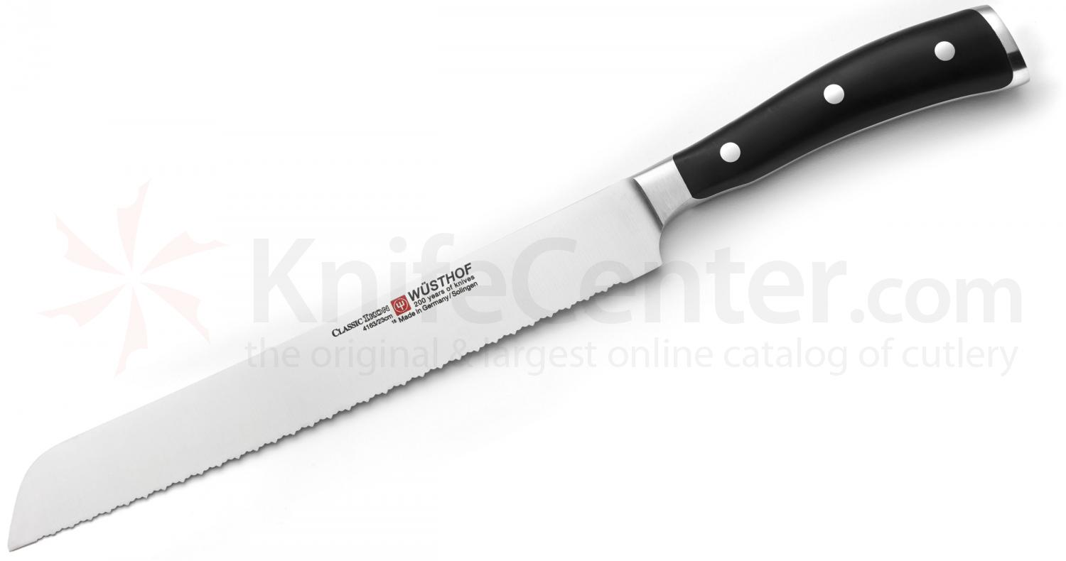 Wusthof Classic Ikon 9 inch Double Serrated Bread Knife (4163-7/23)