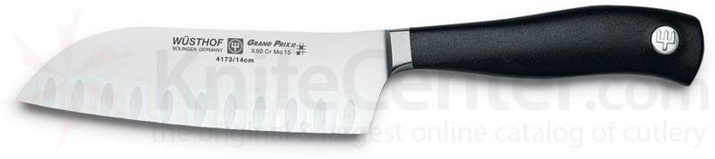 Wusthof Grand Prix II 5 inch Santoku Knife, Hollow Edge