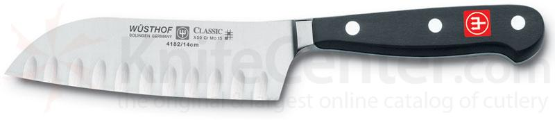 Wusthof Classic 5 inch Santoku Knife, Hollow Edge