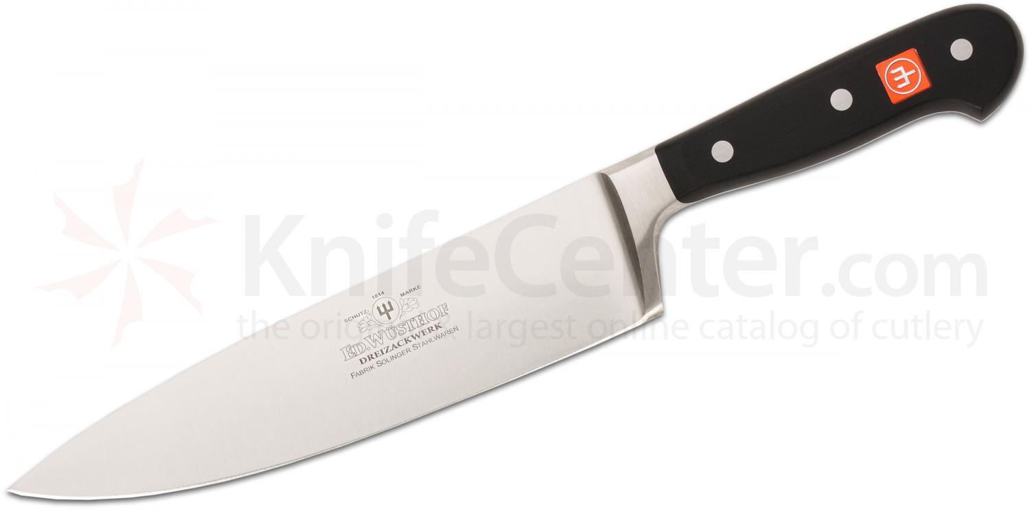 wusthof classic 8 chef s knife with anniversary etching stainless