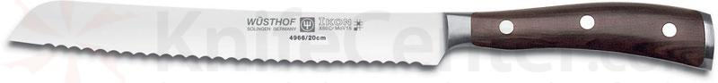 Wusthof Ikon 8 inch Bread Knife, Blackwood Handles