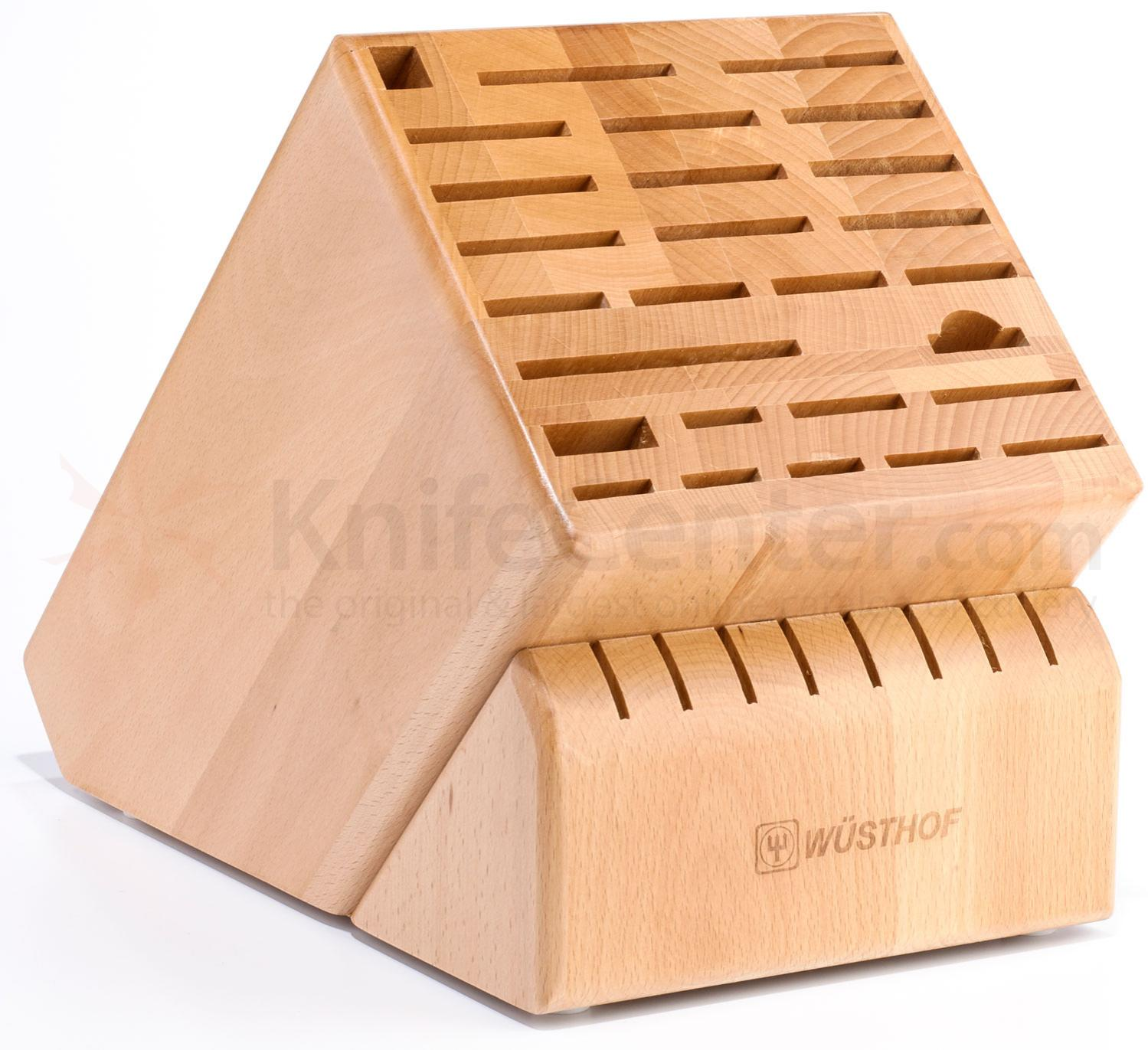Wusthof 35 Slot Beechwood Grand Knife Block (7235-1)