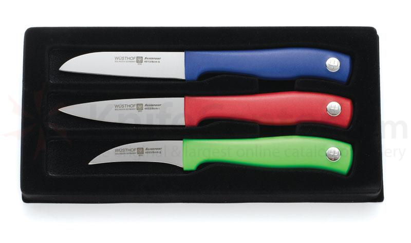 Wusthof Silverpoint II 3 Piece Colored Paring Set
