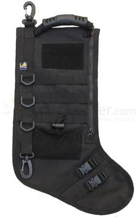 Black Tactical Christmas Stocking with MOLLE Attachment