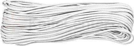 550 Paracord, White, Nylon Braided, 100 Feet