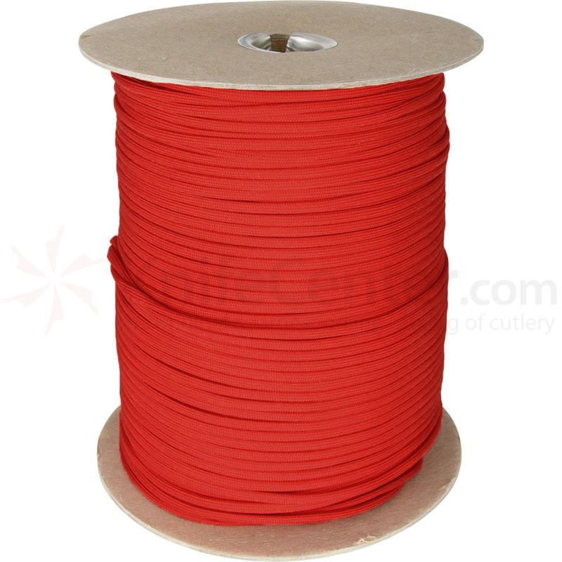 550 Paracord, Red, 1000 Feet Roll