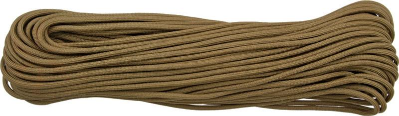550 Paracord, Coyote Tan, Nylon Braided, 100 Feet