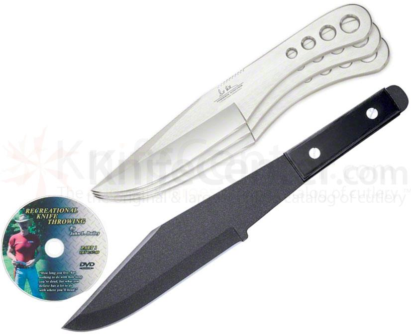 Cold Steel and Gil Hibben Throwing Knife Set with DVD