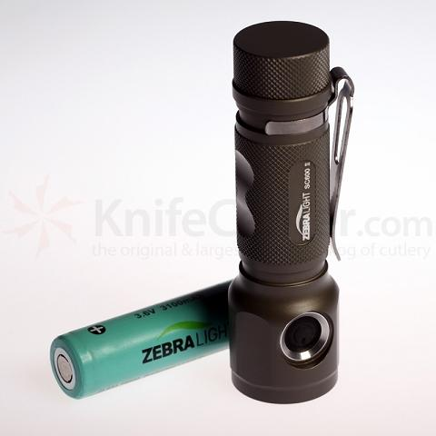 ZebraLight SC600W Mk II L2 18650 Flashlight, XM-L2 Neutral White LED, 1020 Max Lumens