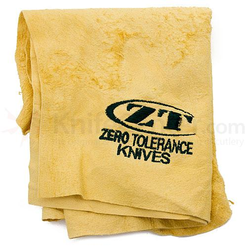 Genuine Leather Chamois Cloth with Embroidered Zero Tolerance Logo