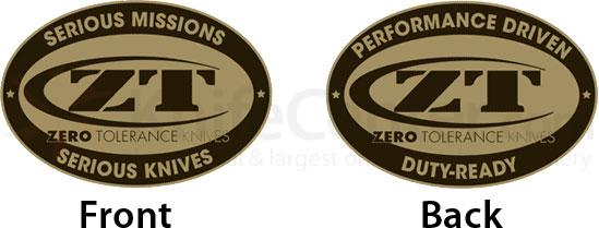 Zero Tolerance Challenge Coin, Struck Brass with Gold Plating (Includes One Coin)