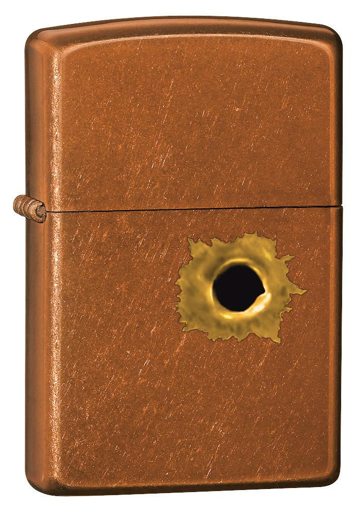 Zippo Bullet Hole Toffee Classic Knifecenter 24717
