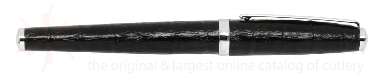 Zippo Black Leather Rollerball