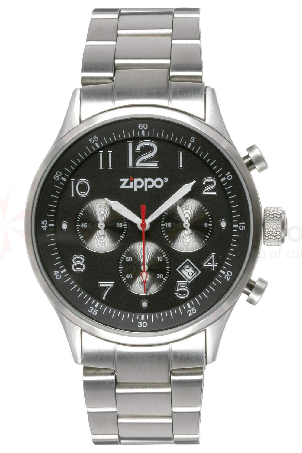 Zippo Watch  Black Face / PVD Stainless Steel Band