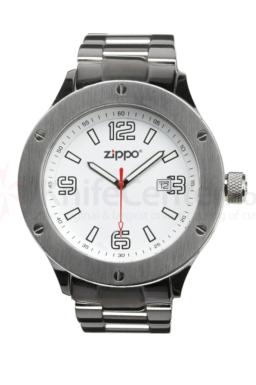 Zippo Watch White Face / Stainless Steel Band