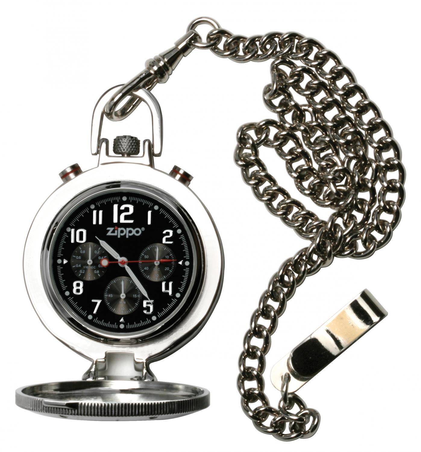 Zippo Pocket Watch Stainless Steel Chain and Buckle
