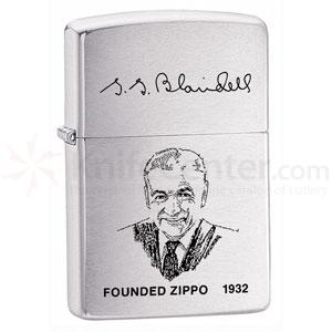 Zippo Founders Lighter, Brushed Chrome Classic