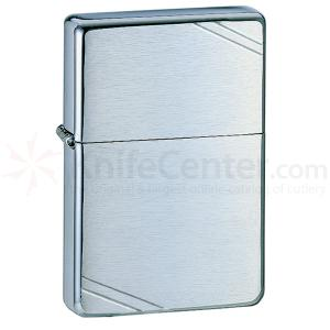 Zippo Brushed Chrome, Vintage, Slashes