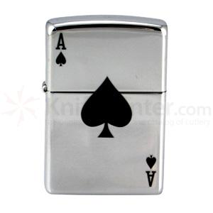 Zippo Lucky Ace, High Polish Chrome Classic