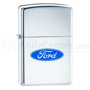 Zippo® High Polish Chrome, Ford Oval