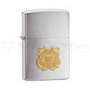 Zippo Coast Guard Emblem, Brushed Chrome Classic