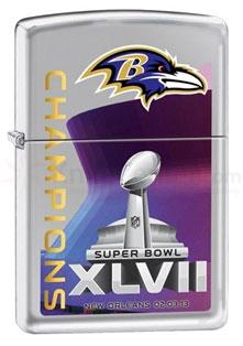 Zippo Ravens Super Bowl XLVII Champions, High Polish Chrome