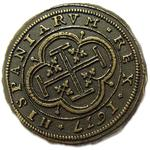 Denix Replica Gold 100  inchEscudos inch Doubloon
