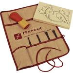Flexcut 5-Piece Craft Carver Set, 4 Different Style Blades w/ Knife Roll