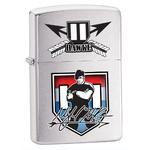 Mykel Hawke Zippo Lighter - Brushed Chrome