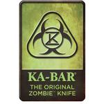 KA-BAR 5700SIGN The Original Zombie Knife Metal Sign 11 inch x 17 inch