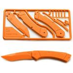 Klecker Trigger Folding Plastic Knife Kit 3.2 inch Blade, Orange