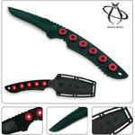 Mantis MF-3 Slimline III Rescue Knife Fixed 3 inch Drop-Point Blade, Custom Sheath