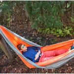 UST Ultimate Survival SlothCloth Hammock 1.0, Orange/Gray